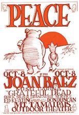 Joan Baez w/ the Grateful Dead Poster, Concert for Peace, Marin, California
