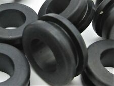 """1/2"""" ID Rubber Grommets for 3/4"""" Panel Hole 7/8"""" OD, Fits 3/16"""" Panel"""