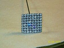Antique Square Rhinestones Victorian Hat Pin Stick Pin