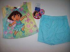 Dora the Explorer Pajamas Sleepwear Infant Baby Girls 2pc Set 18 Mos Butrfly NWT