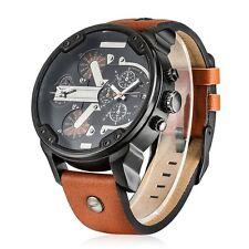 Cagarny 6820 Male Quartz Watch  -  BROWN Date,Decorating small sub-dials Fashion