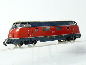 Märklin 3021 H0 Heavy Diesel Locomotive V 200 027 DB, Aged Red, Plate Metal