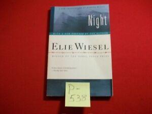 NIGHT-BY ELIE WIESEL-WINNER OF NOBEL PRIZE-A SLIM VOLUME OF TERRIFYING POWER VGC