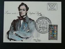 medicine anatomy doctor Joseph Hyrtl maximum card Austria 1984