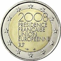 2 Euro France 2008 French Presidency of the Council of the EU .  UNC Coin