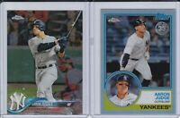 2018 Topps Chrome Aaron Judge 2 Card Lot             #1 AND 83T-1