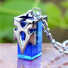 Sword Art Online SAO Kirito Yuki Asuna Metastasis Crystal Pendant Necklace Blue