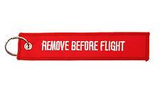 LOTTO SET DI 2 PORTACHIAVI UOMO REMOVE BEFORE FLIGHT PORTACHIAVE RIMUOVERE
