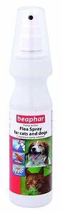 Beaphar Perro Gato Pulgas Spray Bomba Acción Cutáneo Spray Solución 150ml