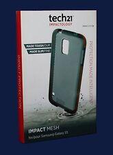 100% Original Tech 21 D3O Impacto Malla Claro caso Shell para Samsung Galaxy S5!!! nuevo!!!