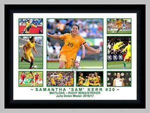 SAMANTHA 'SAM' KERR MATILDAS SOCCER 9 PHOTO COLLAGE FRAMED