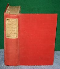 Vintage Hardcover Book - The Novellino of MASUCCIO by W G Waters 1903 London