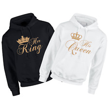 His Queen, Her King Matching Couples Hoodie