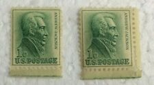 1963  (lot of 2) Andrew Jackson  1 Cent Stamp  U.S. Postage