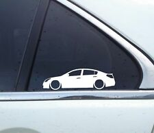 Details about  2X Lowered car outline JDM stickers - for Nissan Altima 4th gen