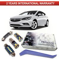 Opel Astra K LED Interior Premium Kit 7 SMD White Bulbs Error Free Vauxhall