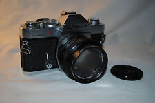 KONICA AUTOREFLEX T-3 35MM SLR W/ VERY FAST 50MM f1.4 LENS