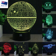 Star Wars Death Star 3D LED Night Light 7 Colour Touch Table Desk Art Lamp Gifts