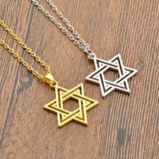 Punk Hexagram Star Of David Pendant Necklace Chain Solomon Israel Women Mens New