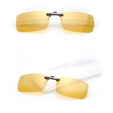 Black Sunglasses Clip On Flip-up Driving Polarized Glasses  Night Vision  UV400