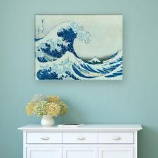 "WANDKINGS Leinwandbild Katsushika Hokusai - ""große Welle"""