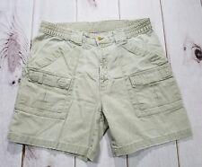 Bill Blass Mens Cargo Camping Hiking Fishing Shorts Utility Tan Size 34