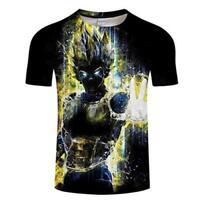 ZeroGoo Goku Vegeta DBZ Dragon Ball Super Saiyan Shirt for, Vegeta-4, Size Large