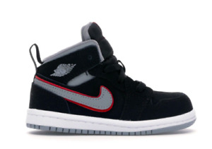 Air Jordan 1 Mid Black Particle Grey White TD Toddler Sz 6c Nike 640735 060 NEW