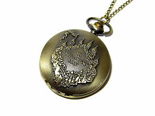 HARRY POTTER MARAUDER'S MAP POCKET WATCH NECKLACE I SOLEMNLY SWEAR UP TO NO GOOD