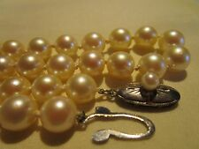 AMAZING VTG Sterling Silver GENUINE AAA QUALITY SOUTH SEA White Pearl Necklace