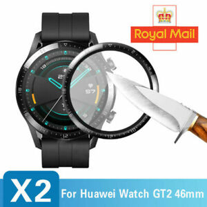 2 x For Huawei Watch GT2 46mm SmartWatch Curved Film Full Cover Screen Protector