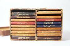 Antique Knickerbocker 18 Volume William Shakespeare Leather Mini Books with Box