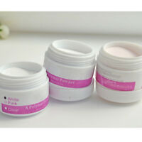 Professional White/Pink/Clear Color Acrylic Powder Nail Art Tips Tool Manicure