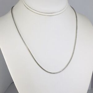 """18.5"""" Tiffany & Co Sterling Silver Unisex Snake Chain Necklace"""