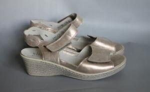 Vitaform Metallic Real Leather  Sandal Comfort Shoes UK 6 EU 39 Extra Wide