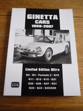 GINETTA, CARS 1958 TO 2007 BGROOKLANDS CAR BOOK