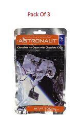Lot de 3 glace au chocolat avec pépites de chocolat NASA Astronaute Espace Nourriture Cadeau