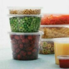 Plastic Containers Round 200Pcs 300ml Takeaway Food Disposable Sauce Containers