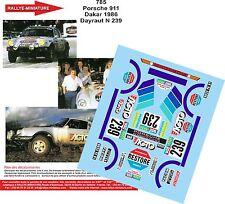 DECALS 1/43 REF 785 PORSCHE 911 DAYRAUT RALLYE PARIS DAKAR 1986 RALLY