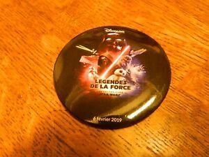 Rare Badge Légendes De La Force Star Wars Disneyland Paris, journée 6 février 21