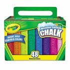 Crayola - Washable Sidewalk Chalk - 48 Assorted Bright Colors New