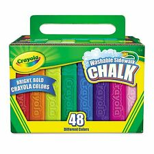 Crayola - Washable Sidewalk Chalk - 48 Assorted Bright Colors New