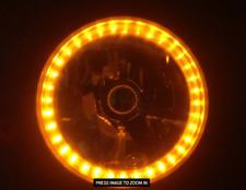"Pair (2) Autopal 7"" Halogen Headlight Headlamp - Amber LED Ring Turnsignal"