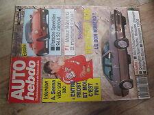 $$t Revue Auto Hebdo N°692 Porsche Speedster  Senna Prost  Peugeot 605  944 S2