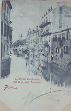 PADOVA - Canale del Bacchiglione (dal Ponte delle Torricelle) 1899