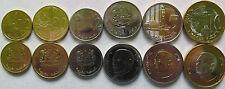 "Morocco set of 6 coins 2011-16 ""10+20+50 Santimes +1+5+10 Dirham"" UNC 2 bimetal"