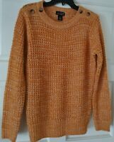 Women's Knit Sweater New Shipping Long Sleeve Pullover Mustard SIZE M New