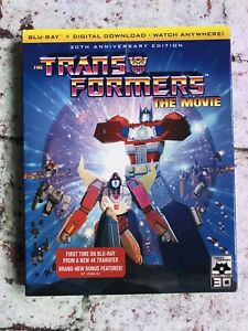 Transformers The Animated Movie 30th Anniversary Shout USA Blu-Ray Slipcover