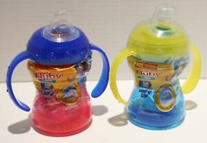 Nuby 1st Sipeez Grip N Sip Handled Sippy Cup No Spill 2pk 8oz 4m+