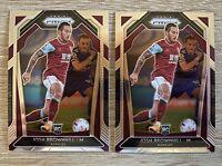 20-21 Panini Prizm Premier League Soccer 2x Lot - Josh Brownhill Burnley Rookie